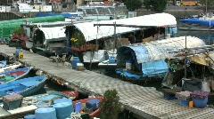 Hong Kong house boats Stock Footage