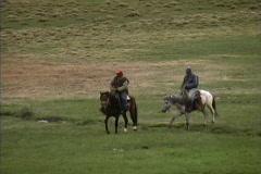Horsemen Kyrgyzstan Stock Footage