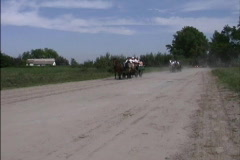 Hungary Horses & wagons Hungary Stock Footage