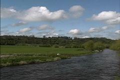 Ireland Boyne River Stock Footage