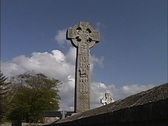 Stock Video Footage of Ireland Celtic cross Drumcliff