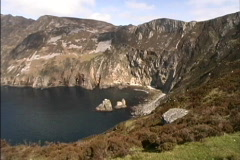 Cliffs at Slieve League  Stock Footage