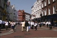 Ireland Dublin pedestrian street Stock Footage
