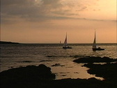 Stock Video Footage of Ireland Evening sail Rosses Point