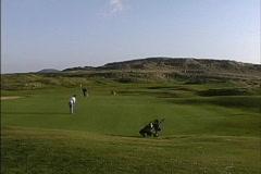 Ireland Golf links County Sligo Stock Footage