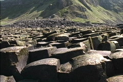 Nothern Ireland Looking up Giants Causeway Stock Footage