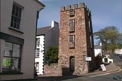 Ireland Medieval tower Cushendall Stock Footage