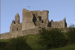 Ireland Ruins on Rock of Cashel Stock Footage