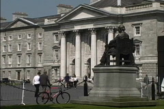 Statue at Trinity College Stock Footage