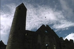 Ireland Tower Rock of Cashel Stock Footage