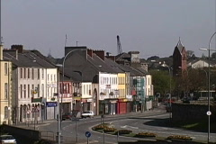 Townscape Northern Ireland Stock Footage
