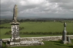 Ireland View from Rock of Cashel Stock Footage