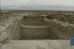 Israel Excavations Qumran Stock Footage