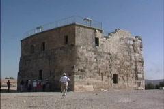 Israel Stone building Sepphoris Stock Footage