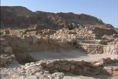 Israel View of Qumran Stock Footage