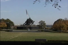 Iwo Jima Memorial zoom Stock Footage