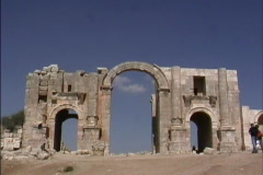 Jordan Arch at Jerash in Jordan Stock Footage