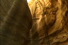 Jordan Buggy in Siq at Petra tilts Stock Footage