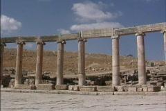 Jordan Columns at Jerash 1 Stock Footage