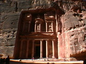 Stock Video Footage of Jordan Full view Treasury at Petra