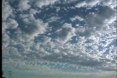 Jumbled clouds after storm - stock footage