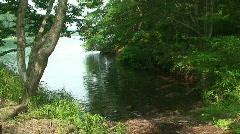 Small Cove By Lake Stock Footage