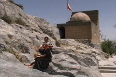 Krygzstan Babura's Mosque Osh Stock Footage