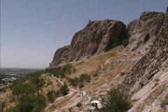 Krygyzstan Solomon's Throne Osh Stock Footage