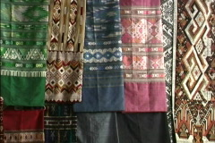 Laos Embroidered fabrics Stock Footage