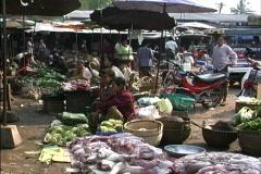Laos Luang Prabang market Stock Footage
