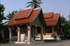 Laos Shrines Luang Prabang Stock Footage