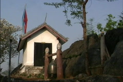 Laos Temple on Phou Si hill Stock Footage