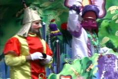 Mardi Gras  Throwing beads - stock footage