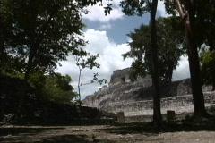 Maya Cities Becan temple zooms  Stock Footage