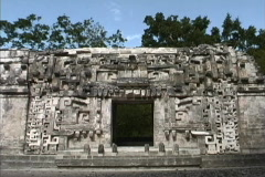 Maya Cities Chicanna god Itzamna Stock Footage