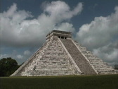 Stock Video Footage of Maya Cities Chichen Itza Castillo
