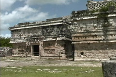 Maya Cities Chichen Nunnery Stock Footage