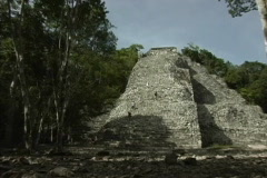 Maya Cities Coba Nohoch Mul pyramid Stock Footage