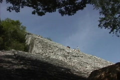 Maya Cities Coba side view steps Stock Footage