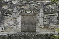Maya Cities Hormiguero carved doorway Stock Footage
