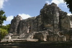 Maya Cities Hormiguero temple Stock Footage