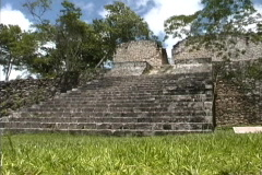 Maya Cities Kohunlich temple platform Stock Footage
