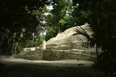 Maya Cities Lamanai pyramid Stock Footage