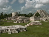 Maya Cities Mayapan overview Stock Footage