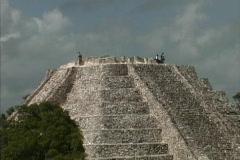 Maya Cities Mayapan pyramid Stock Footage