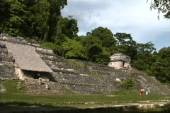 Maya Cities Palenque avenue Stock Footage