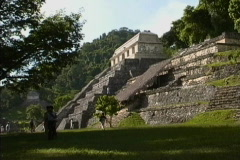 -Maya Cities Palenque temple-pyramid Stock Footage