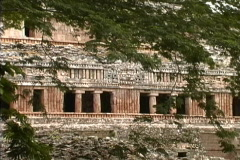 Maya Cities Sayil palace zooms Stock Footage