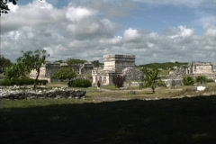 Maya Cities Tulum zoons in Stock Footage