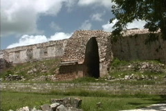 Maya Cities Uxmal corbled entry Stock Footage